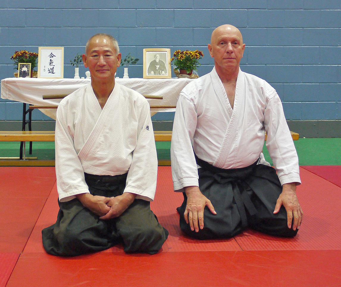 Shigemi Inagaki shihan with dojo cho Andy Hathaway